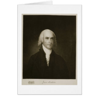 James Madison, 4th President of the United States Greeting Card