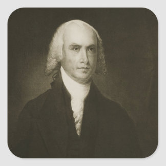 James Madison, 4th President of the United States Square Sticker