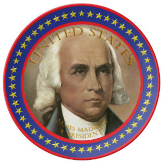 james madison 4th President Plate