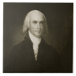 James Madison, 4to Presidente de los Estados Unido Azulejo Cuadrado Grande