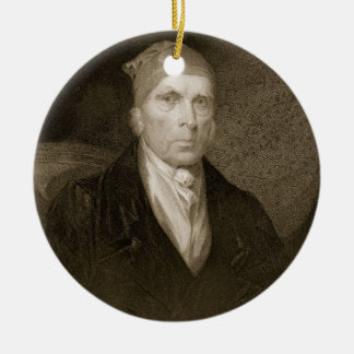 James Madison aged 82, engraved by Thomas B. Welch Ceramic Ornament