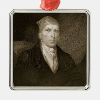 James Madison aged 82, engraved by Thomas B. Welch Metal Ornament