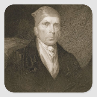 James Madison aged 82, engraved by Thomas B. Welch Square Sticker