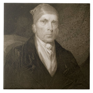 James Madison aged 82, engraved by Thomas B. Welch Ceramic Tiles