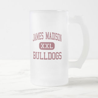 James Madison - Bulldogs - High - Norcross Georgia Frosted Glass Beer Mug