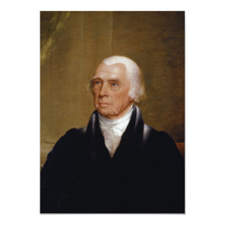 James Madison by Chester Harding (1830) 5x7 Paper Invitation Card