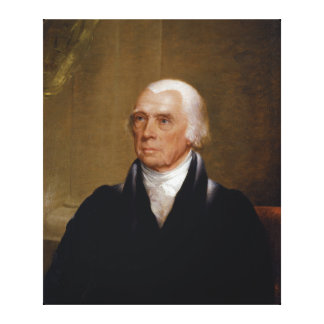 James Madison by Chester Harding (1830) Canvas Print