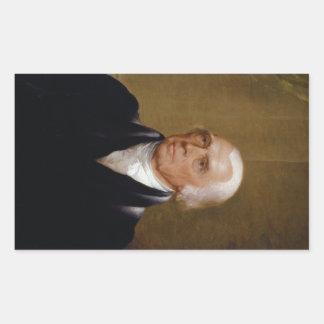 James Madison by Chester Harding (1830) Rectangular Sticker