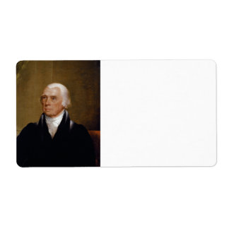 James Madison by Chester Harding (1830) Shipping Label
