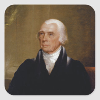 James Madison by Chester Harding (1830) Square Sticker