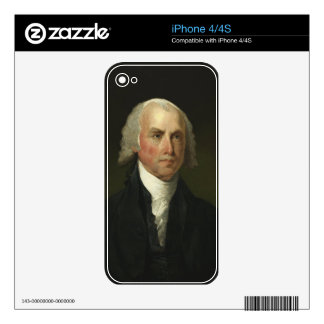 James Madison by Gilbert Stuart (1821) iPhone 4 Skins