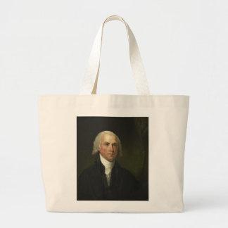James Madison by Gilbert Stuart (1821) Large Tote Bag