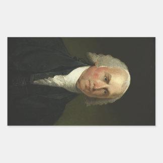 James Madison by Gilbert Stuart (1821) Rectangular Sticker