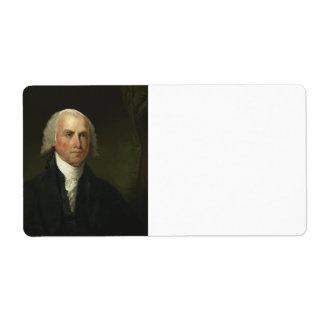James Madison by Gilbert Stuart (1821) Shipping Label