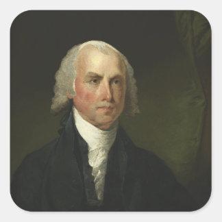 James Madison by Gilbert Stuart (1821) Square Sticker