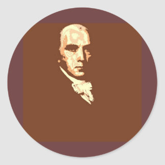 James Madison Classic Round Sticker