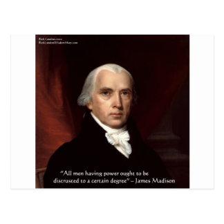 "James Madison ""Distrust Power"" Wisdom Quote Gifts Postcard"