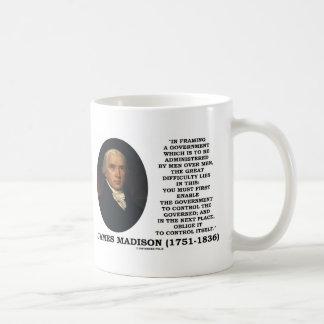 James Madison Framing A Government Control Itself Coffee Mug