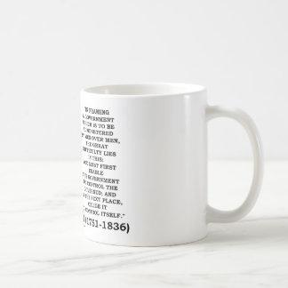 James Madison Framing A Government Control Itself Coffee Mugs