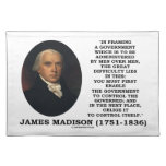James Madison Framing A Government Control Itself Place Mats