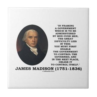 James Madison Framing A Government Control Itself Tiles