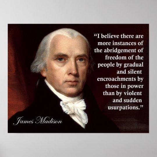 James Madison Quotes Delectable James Madison Freedom Quote Print Zazzle