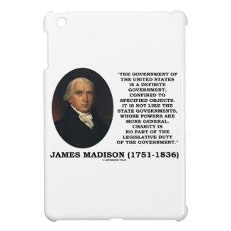 James Madison Govt de Estados Unidos especificó