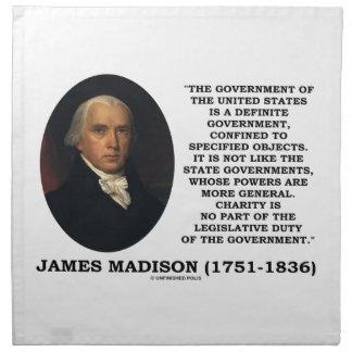 James Madison Govt de Estados Unidos especificó Servilletas De Papel