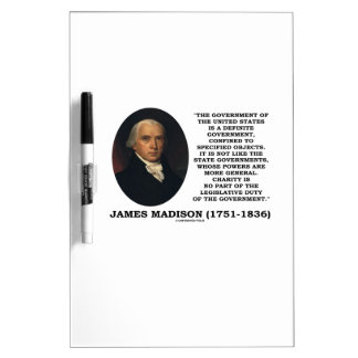 James Madison Govt Of United States Specified Govt Dry Erase Board