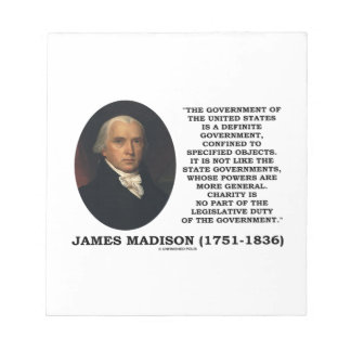 James Madison Govt Of United States Specified Govt Notepads