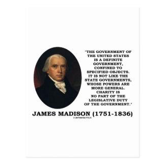 James Madison Govt Of United States Specified Govt Postcard