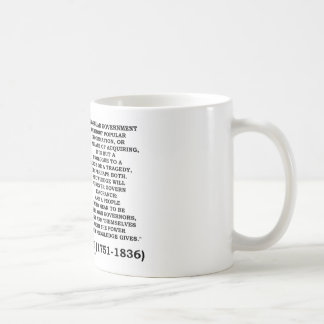 James Madison Knowledge Forever Govern Ignorance Classic White Coffee Mug