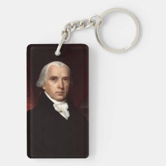 James Madison Llavero Rectangular Acrílico A Doble Cara