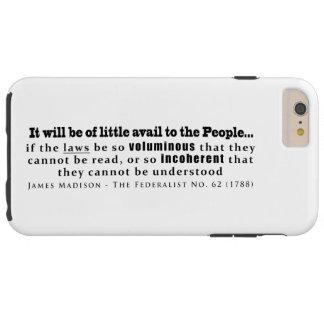 James Madison no. federalista 62 (1788) Funda Resistente iPhone 6 Plus