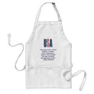 James Madison Patriotic Quote Adult Apron