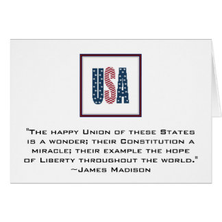 James Madison Patriotic Quote Notecard. Card