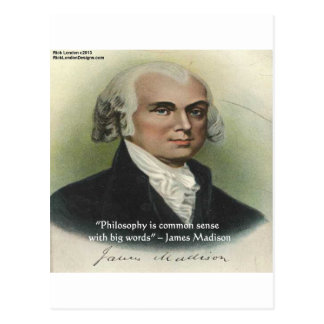 "James Madison ""Philosophy/Common Sense"" Quote Postcard"