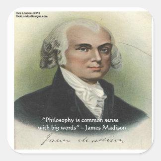 James Madison Philosophy Common Sense Quote Sticker