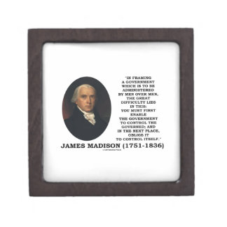James Madison que enmarca un control gubernamental