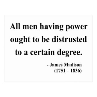 James Madison Quote 1a Postcard