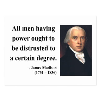 James Madison Quote 1b Postcard