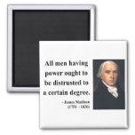 James Madison Quote 1b Refrigerator Magnet