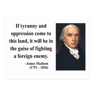 James Madison Quote 2b Postcard