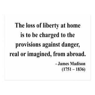 James Madison Quote 3a Postcard