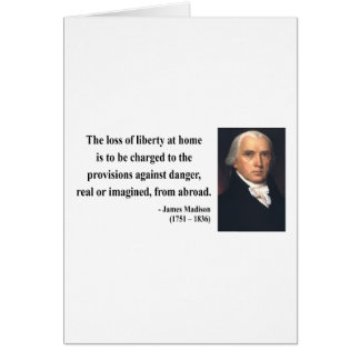 James Madison Quote 3b Card