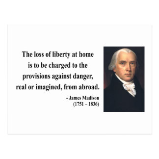 James Madison Quote 3b Postcard