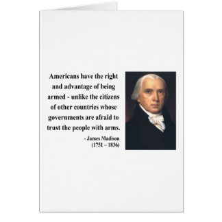 James Madison Quote 4b Card