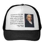 James Madison Quote 4b Mesh Hats