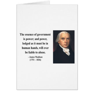 James Madison Quote 5b Card
