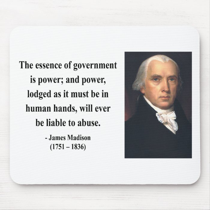 James Madison Quote 5b Mouse Pad
